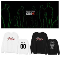 Kpop Stray Kids Sweater Album GO Round Neck Sweater Plus Velvet Thin Sweatshirt