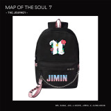 Kpop BTS School Bag Bangtan Boys MAP OF THE SOUL7 Shoulder Backpack USB Charging Canvas Bag V SUGA JIN JIMIN