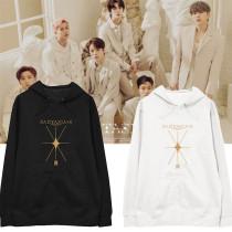 Kpop MONSTA X Sweater Album FANTASIA X Hooded Sweater Plus Velvet Thin Coat Sweatshirt