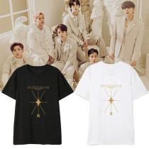 Kpop MONSTA X  T-shirt Album FANTASIA X Short Sleeve T-shirt Loose Bottoming Shirt T-shirt