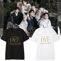 Kpop GOT7 T-shirt Album DYE Short Sleeve T-shirt JR. J B JACKSON MARK Bottoming Shirt Short Sleeve