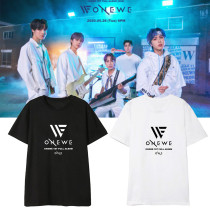 Kpop ONEWE T-shirt Debut Album ONE Same Paragraph Short Sleeve T-shirt Bottoming Shirt Short Sleeve