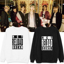 Kpop NCT DREAM Sweater New Album Reload Round neck sweater Plus Velvet Thin Coat Sweatshirt