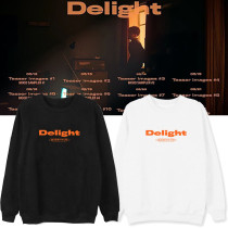 Kpop EXO Sweater Baekhyun Second Album Delight Round Neck Sweater Plus Velvet Thin Coat Sweatshirt
