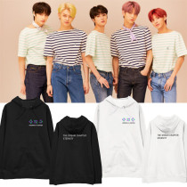 Kpop TXT Sweater Album ETERNITY Hooded Sweatshirt  Velvet Thin Sweatshirt