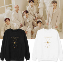 Kpop MONSTA X Sweater Album FANTASIA X Round Neck Sweater Velvet Thin Coat Sweatshirt