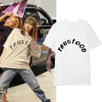 Kpop Blackpink T-shirt Lisa Same Short-sleeved T-shirt Korean Version Loose Bottoming Shirt