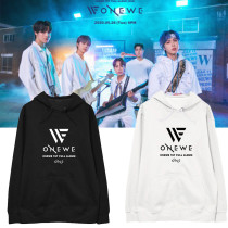 Kpop ONEWE Sweater Debut Album ONE Hooded Sweater Plus Velvet Thin Sweatshirt