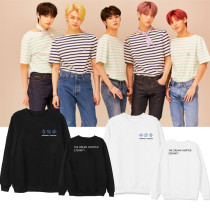 Kpop TXT Sweater Album ETERNITY Round Neck Sweater Plus Velvet Thin Section Sweatshirt