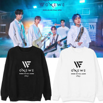 Kpop ONEWE Sweater First Album ONE Round Neck Sweater Plus Velvet Thin Coat Korean Version Loose Sweatshirt