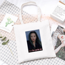 Kpop Blackpink Album How You Like That Canvas Bag Shoulder Bag Handbag Storage Bag LISA ROSE JENNIE JISOO