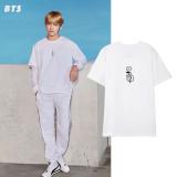 Kpop BTS T-shirt Bangtan Boys Short-sleeved V Same T-shirt Loose Bottoming Shirt