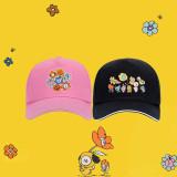 Kpop BTS Baseball Cap Bangtan Boys FLOWER Series Baseball Cap LINE FRIEN Cap Cap Sun Hat