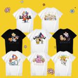 Kpop BTS T-shirt Bangtan Boys Same T-shirt FLOWER Series LINE FRIEN Short Sleeve