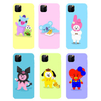 Kpop BTS Phone Case Bangtan Boys Cartoon Protective Cover for iphone11/XS Hard Shell CHIMMY COOKY KOYA TATA  MANG