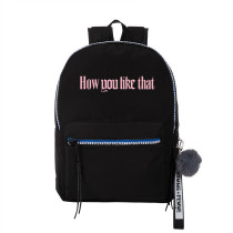 Kpop BLACKPINK Schoolbag New Album How You Like That Schoolbag Casual Canvas Shoulder Backpack LISA ROSE
