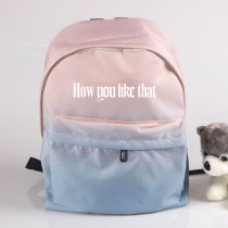 Kpop BLACKPINK School Bag LISA New Album How You Like That School Bag Gradient Double Shoulder Bag