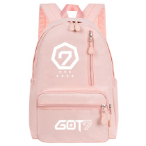 Kpop GOT7 Backpack School Bag New Zipper Backpack Canvas Travel Bag JacksonWang Mark