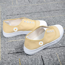 Kpop G-Dragon Small Daisy Canvas Shoes Low-top Shoes Student Casual Shoes Spring and Summer women's Shoes