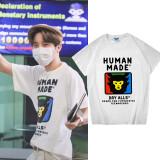 Kpop BTS T-shirt Bangtan Boys J-HOPE same ape Head Pattern Short-sleeved Bottoming Shirt T-shirt