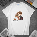 Kpop BTS T-shirt Bangtan Boys Short Sleeve T-shirt Bottoming Shirt Short Sleeve V SUGA JIN JIMIN J-HOPE