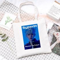 Kpop SuperM Canvas Bag Beyond the Future Poster Canvas Bag Handbag Storage Bag Shoulder Bag