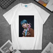 Kpop SuperM T-shirt Short Sleeve T-shirt Casual Loose Bottoming Shirt Short Sleeve KAI  LUCAS MARK
