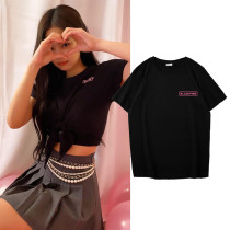 Kpop BLACKPINK T-shirt JENNIE Short-sleeved T-shirt Bottoming Shirt Short-sleeved