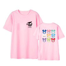 Kpop TWICE T-shirt Cartoon Character Short-sleeved LOVELYS Korean Version Loose Wild T-shirt