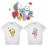 Kpop BTS T-shirt Bangtan Boys Short Sleeve T-shirt Bottoming Shirt Short Sleeve CHIMMY COOKY KOYA TATA