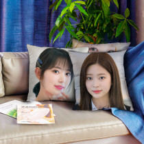 Kpop IZONE  Pillow Case 5 People Pictorial Digital Printing 3D Sofa Cushion  Pillow Choi YeNa Kim MinJu Kim ChaeWon  Jang WonYoung