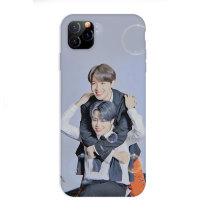 Kpop BTS Phone Case Bangtan Boys Mobile Phone Case Anti-fall Hard Shell Suitable for iphoneXS/XR/11 Protective Sleeve