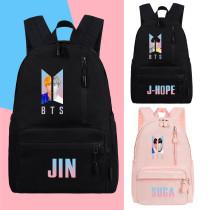 Kpop BTS School Bag Bangtan Boys Backpack Zipper Fashion Casual Large Capacity V SUGA JIN JIMIN