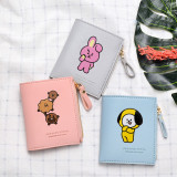 Kpop BTS Wallet Bangtan Boys Card Case Short Wallet Storage Coin Purse CHIMMY COOKY KOYA TATA