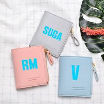 Kpop BTS Wallet Bangtan Boys Short Wallet Coin Purse Portable Storage Bag V SUGA JIN JIMIN