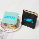 Kpop BTS Wallet Bangtan Boys Short Wallet Coin Purse Card Bag Storage Bag V SUGA JIN JIMIN