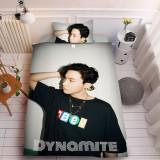 Kpop 3Pc/Set BTS Bangtan Boys New Song Dynamite Trailer Photo Digital Printing 3D Sheet Duvet Cover