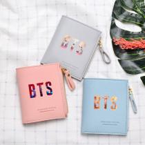 Kpop BTS Wallet Bangtan Boys Card Case Card Bag Short Wallet Storage Bag Coin Purse