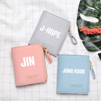 Kpop BTS Wallet Bangtan Boys Short Wallet Card Case Card Bag Coin Purse Storage Bag V SUGA JIN