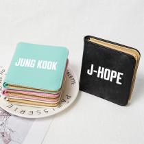 Kpop BTS Bangtan Boys Wallet Short Wallet Card Case Storage Bag Coin Purse V SUGA JIN JIMIN