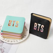 Kpop BTS Bangtan Boys Wallet Short Wallet Change Card Case Storage Bag