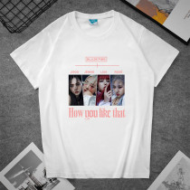 Kpop BLACKPINK T-shirt New album How You Like That Short-sleeved T-shirt LISA ROSE JENNIE JISOO