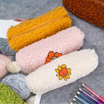 Kpop BTS Bangtan Boys Pencil Case FLOWER Lamb Cashmere Storage Bag Stationery Bag