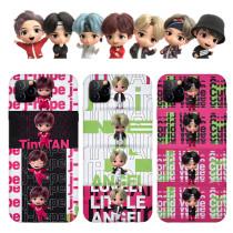 Kpop BTS Phone Case Bangtan Boys TinyTAN Suitable for Apple iphoneXS/11Pro Hard Shell Protective Sleeve