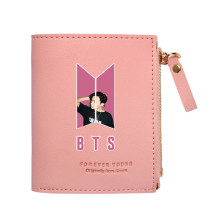 Kpop BTS Bangtan Boys Wallet New Album Dynamite Short Wallet Coin Purse V SUGA JIN JIMIN
