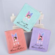 Kpop BTS Wallet Bangtan Boys Wallet Short Wallet Change Card Holder Storage Bag V SUGA JIN