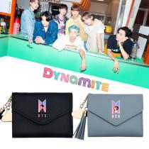 Kpop BTS Bangtan Boys New Album Dynamite Card Case Card Bag Short Coin Purse Storage Bag