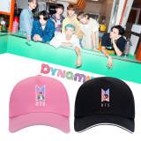 Kpop BTS Hat Bangtan Boys New Song DYNAMITE Baseball Cap Peak Cap Sun Hat
