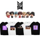 Kpop BTS T-shirt Bangtan Boys Tiny Tan T-shirt short sleeves V SUGA JIN JUNGKOOK JIMIN