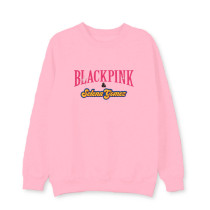 Kpop Blackpink Ice Cream Round Neck Sweatshirt Pullover Jacket Plus Velvet Thin Section